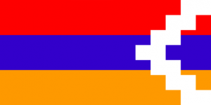 Le drapeau du Haut-Karabagh