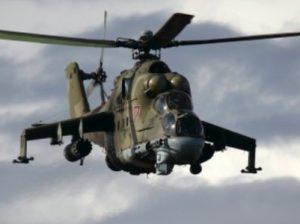 Un Mi-24 similaire à celui abattu par l'Azerbaïdjan
