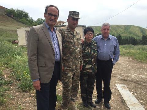 Французские парламентарии провели инспекцию на линии соприкосновения карабахских и азербайджанских войск