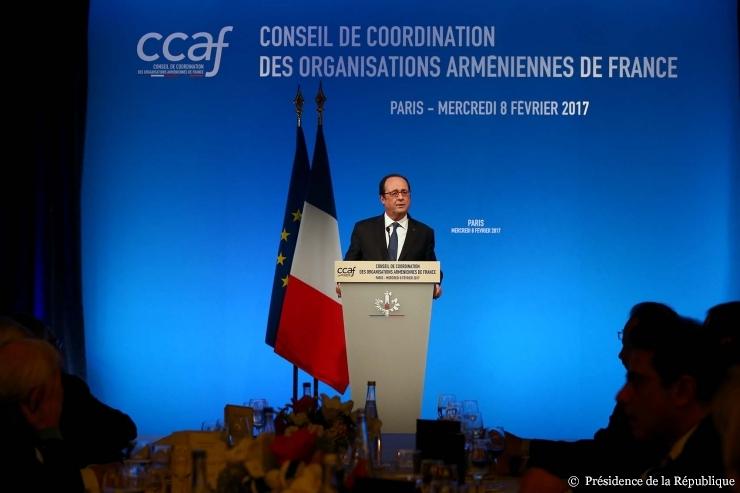 François Hollande au dîner du CCAF (08/03/17)
