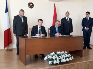 Signature de MM. Gaël Perdriau et Ardziv Sarkissian